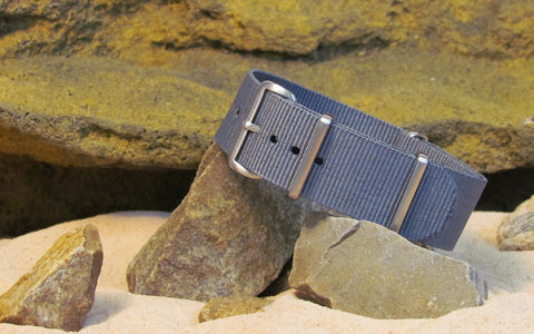The Gray Matter Ballistic Nylon Strap w/ Brushed Hardware 22mm