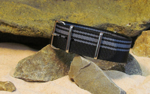 NEW - The Moto Italia v.G3 Ballistic Nylon Strap w/ Polished Hardware 18mm