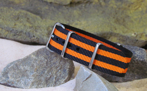 The Hellfire NATO Strap w/ Polished Hardware 18mm