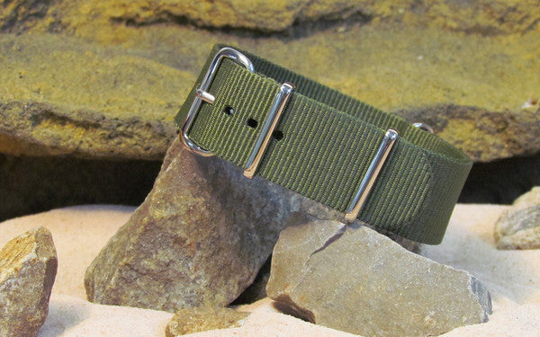 The Infantry Nato Strap w/ Polished Hardware 26mm