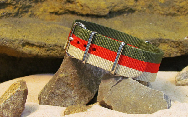 The Lieutenant Ballistic Nylon Strap w/ Polished Hardware 22mm