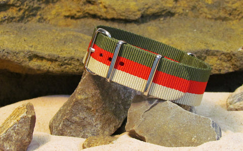 The Lieutenant Ballistic Nylon Strap w/ Polished Hardware 18mm