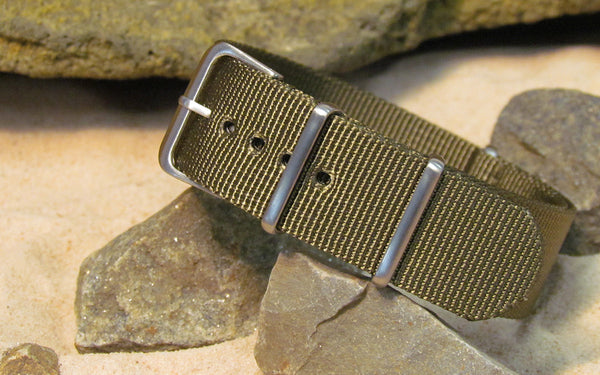 The Private XII Ballistic Nylon Strap w/ Brushed Hardware (Stitched) 26mm