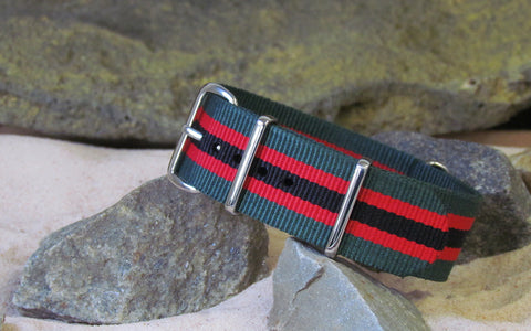 The Lumberjack Ballistic Nylon Strap w/ Polished Hardware 18mm