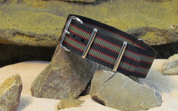 The MI6 Bond NATO Strap w/ Polished Hardware 22mm