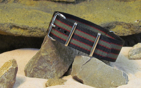 The MI6 Bond Ballistic Nylon Strap w/ Polished Hardware 18mm