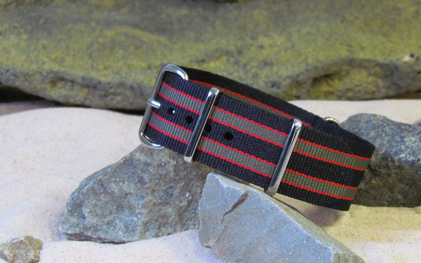 The MI6 Bond III NATO Strap w/ Polished Hardware 16mm