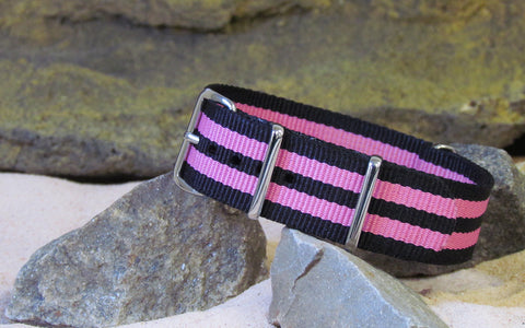 The Maniac Ballistic Nylon Strap w/ Polished Hardware 18mm