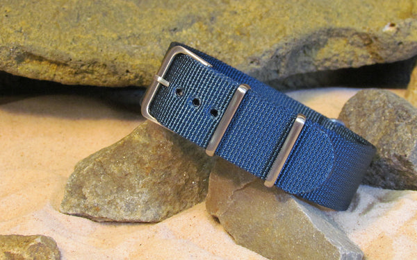 The Mediterranean XII NATO Strap w/ Brushed Hardware (Stitched) 22mm