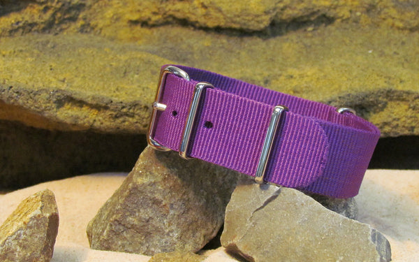The Purple Heart Nato Strap w/ Polished Hardware 18mm