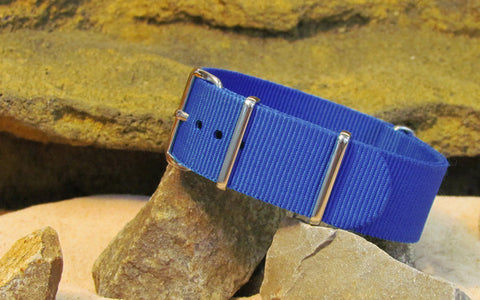 The Majesty NATO Strap w/ Polished Hardware 24mm