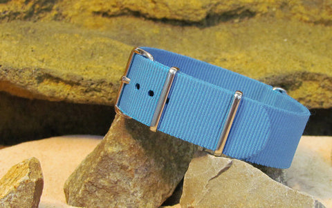 The Airborne Ballistic Nylon Strap w/ Polished Hardware 22mm