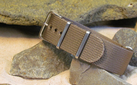 The Fortress XII Nato Strap w/ Brushed Hardware (Stitched) 24mm