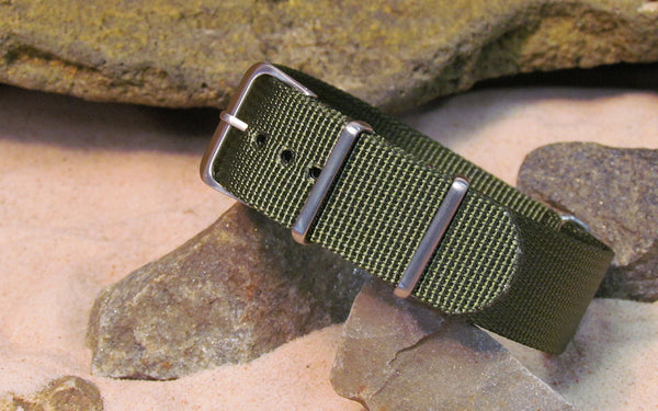 The Soldier XII NATO Strap w/ Brushed Hardware (Stitched) 20mm