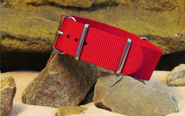 The O-Negative Nato Strap w/ Polished Hardware 18mm