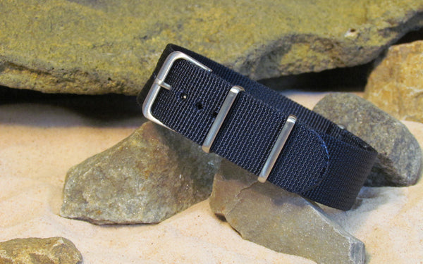 The Pacific XII NATO Strap w/ Brushed Hardware (Stitched) 26mm