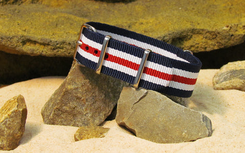 The Patriot II Ballistic Nylon Strap w/ Polished Hardware 18mm