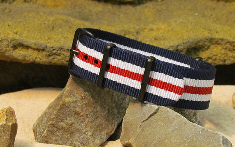 The Patriot II NATO Strap w/ PVD Hardware (Stitched) 18mm