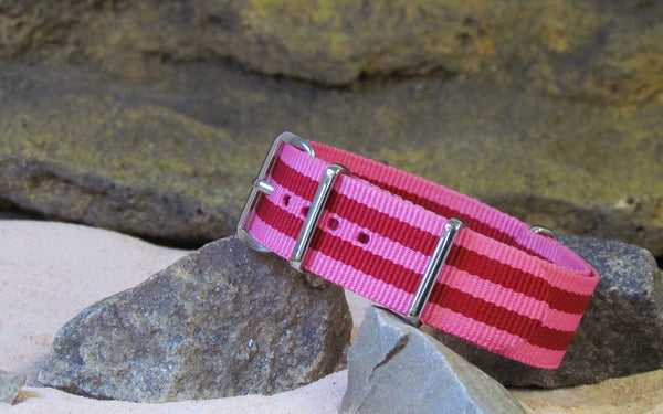 The Pinkie NATO Strap w/ Polished Hardware 20mm