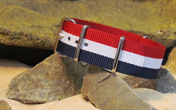 The Patriot Ballistic Nylon Strap w/ Polished Hardware 18mm
