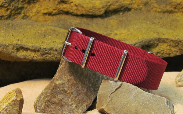 The Mulberry Nato Strap w/ Polished Hardware 20mm