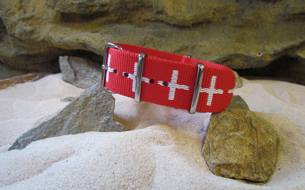 The Medic NATO Strap w/ Polished Hardware 22mm