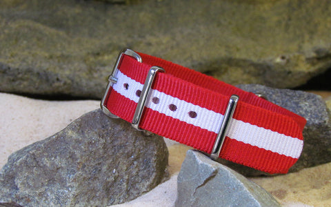 The Rescuer Ballistic Nylon Strap w/ Polished Hardware 20mm
