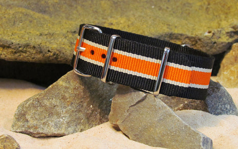 The Saturn Ballistic Nylon Strap w/ Polished Hardware 22mm