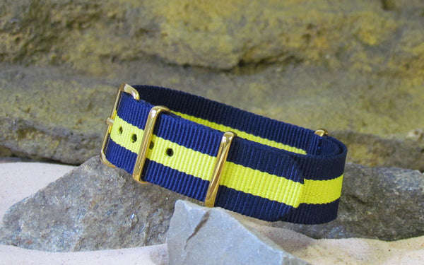The SEAL NATO Strap w/ Gold Hardware (Stitched) 20mm