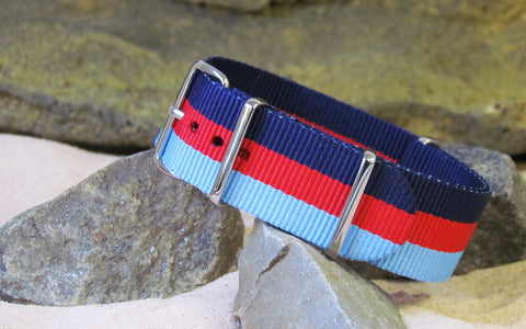 The Skybolt NATO Strap w/ Polished Hardware 18mm