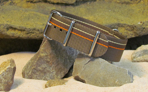 The Watchuseek F71 Edition Ballistic Nylon Strap w/ Polished Hardware (Stitched) 22mm