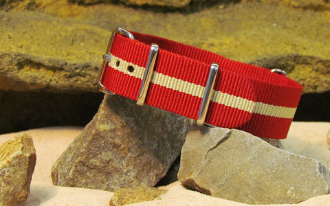 The Weekender II Nato Strap w/ Polished Hardware 18mm