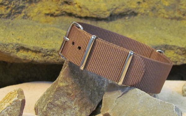 The Woodland Ballistic Nylon Strap w/ Polished Hardware 22mm