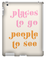 PLACES TO GO PEOPLE TO SEE TABLET CASE