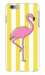 FLAMINGO IN ARUBA YELLOW PHONE CASE