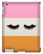 LOVELY LASHES PINK AND ORANGE TABLET CASE