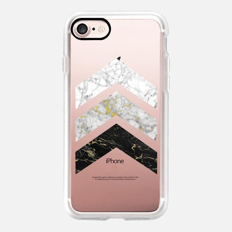 GOLD FLECKED MARBLE CHEVRON PHONE CASE