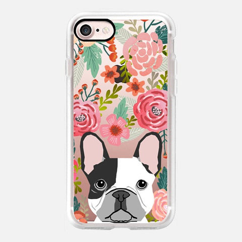 FLORAL FRENCH BULLDOG PHONE CASE