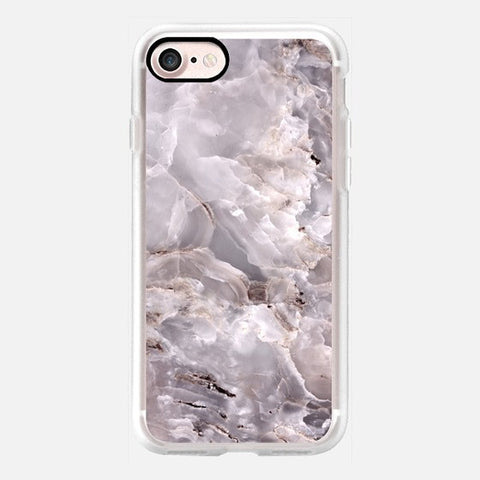 GRAY PURPLE MARBLE PHONE CASE