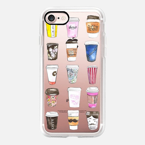 COFFEE TIME ILLUSTRATION PHONE CASE