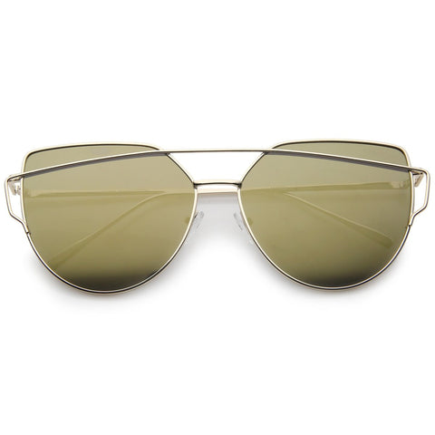 Instareadi Sunglasses - Gold Mirror