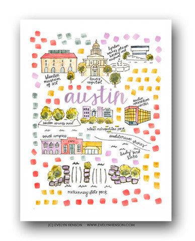 AUSTIN MAP ILLUSTRATION