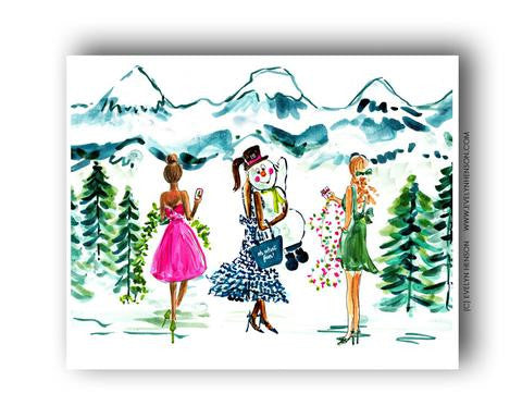 DECK THE WORLD, HOLIDAY ART PRINT