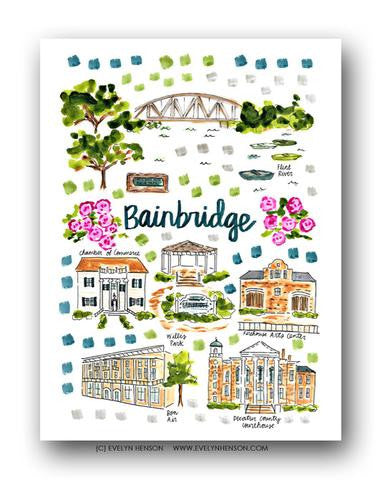 BAINBRIDGE, GA MAP ILLUSTRATION