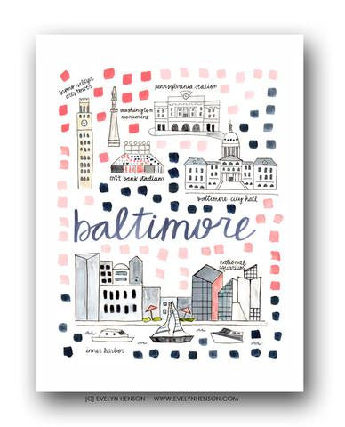 BALTIMORE MAP ILLUSTRATION