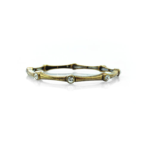 Bamboo Gem Bangle Bracelet
