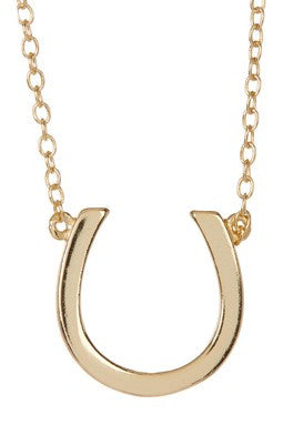 STERLING GOLD HORSESHOE NECKLACE