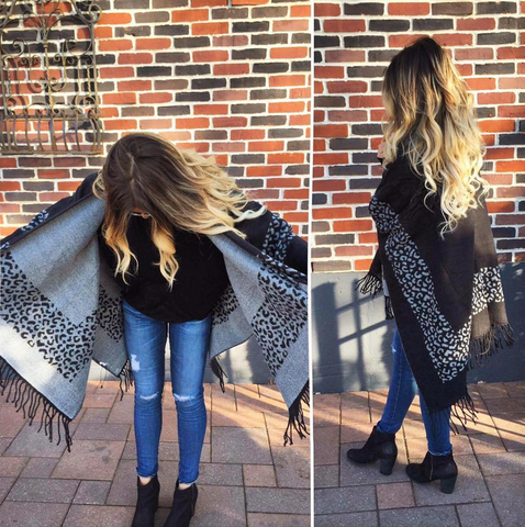 Black Leopard Cape