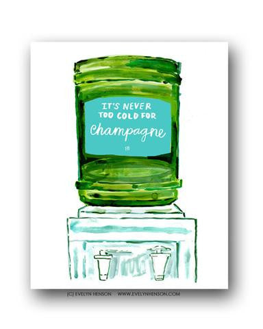 CHAMPAGNE COOLER PRINT