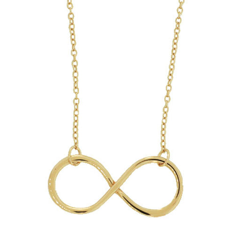 STERLING GOLD DAINTY INFINITY NECKLACE